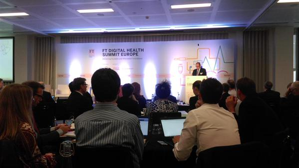 Andrew Ward kicking-off FT Digital Health Summit Europe